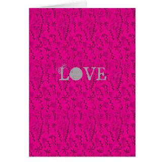Cartão Amor da arte popular
