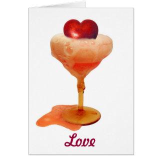 Cartão Amor da bebida do coração