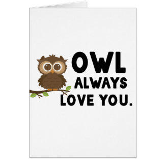 Cartão Amor da coruja