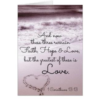 Cartão Amor da esperança da fé, 1 13:13 dos Corinthians,