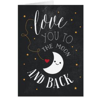 Cartão Amor da lua
