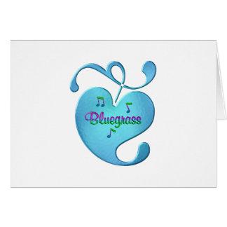 Cartão Amor da música de Bluegrass