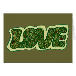 Cartão Amor de Camoflauge