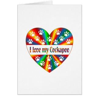 Cartão Amor de Cockapoo