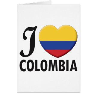 Cartão Amor de Colômbia