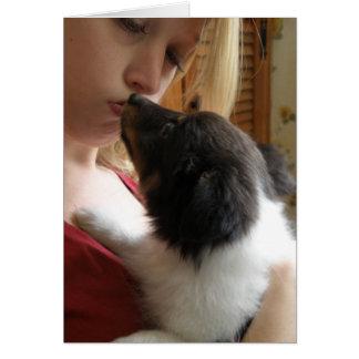 Cartão Amor de filhote de cachorro