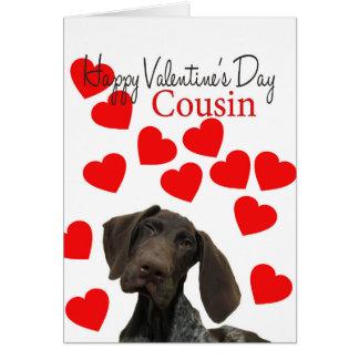 Cartão Amor de filhote de cachorro lustroso dos namorados