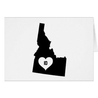 Cartão Amor de Idaho