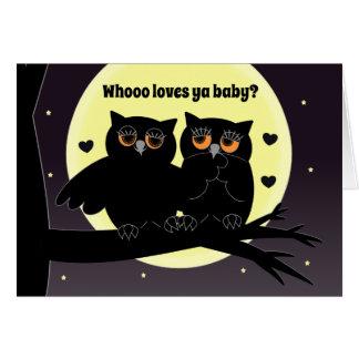 Cartão Amor de Love>Humor>I você com a coruja de meu