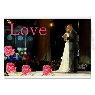 Cartão Amor de Obama-Michelle