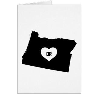 Cartão Amor de Oregon