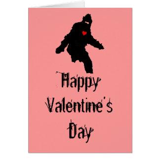 Cartão Amor de Sasquatch:  Feliz dia dos namorados