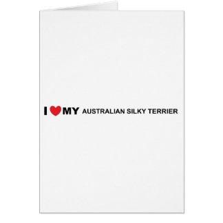 Cartão amor de seda australiano