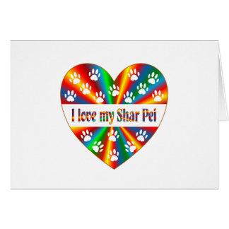 Cartão Amor de Shar Pei