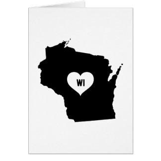 Cartão Amor de Wisconsin