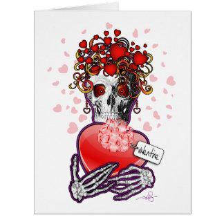 Cartão Amor do crânio dos namorados