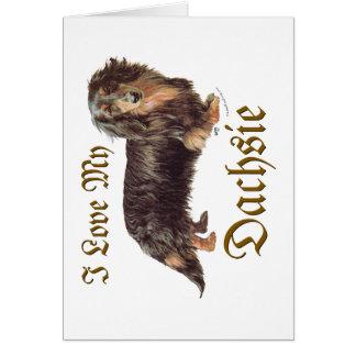 Cartão Amor do Dachshund