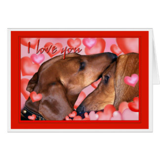 Cartão Amor do Dachshund - dia dos namorados