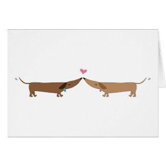 Cartão amor do doxie