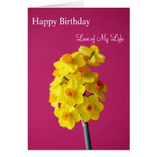 Cartão Amor do feliz aniversario de minha vida