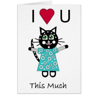 Cartão Amor do gatinho