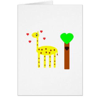 Cartão Amor do girafa