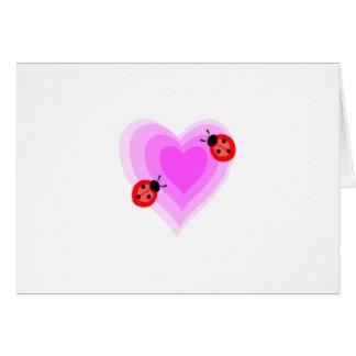 Cartão Amor do joaninha