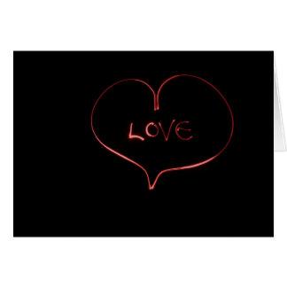 Cartão Amor do laser