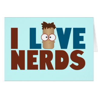 Cartão Amor do nerd - Brown