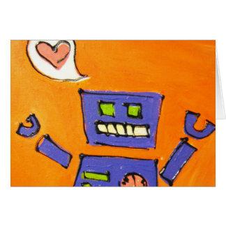 Cartão Amor do robô