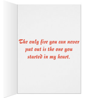 Cartão Amor do sapador-bombeiro