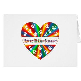 Cartão Amor do Schnauzer diminuto
