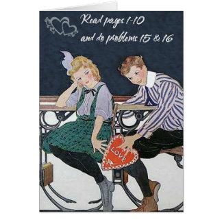 Cartão Amor do Schoolroom