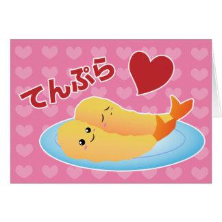 Cartão Amor do Tempura