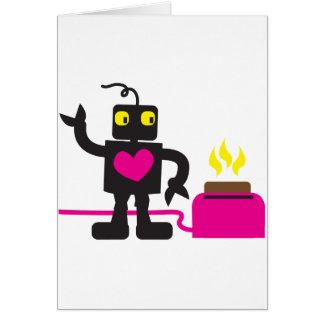 Cartão amor do torradeira