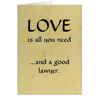 Cartão Amor e um bom advogado