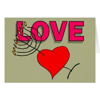 Cartão Amor em Chanukah 101