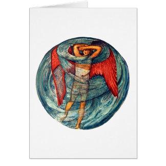 Cartão Amor em uma névoa por Burne-Jones