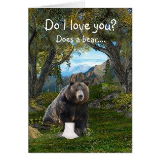 Cartão Amor engraçado
