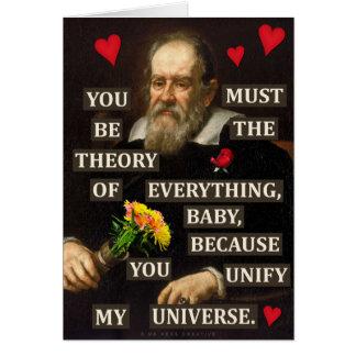 Cartão Amor engraçado do geek da física de Galileo do dia