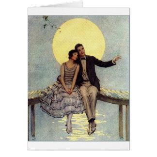 Cartão Amor enluarada,