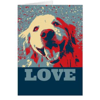 Cartão Amor estilizado do dia dos namorados do golden