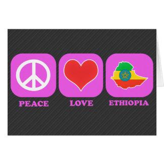 Cartão Amor Etiópia da paz