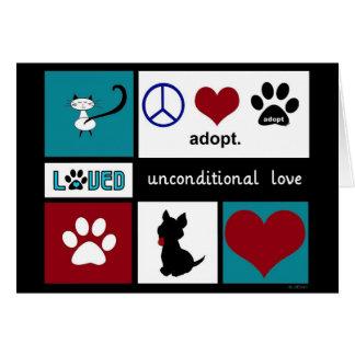 Cartão Amor incondicional