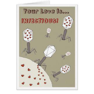 Cartão Amor infeccioso