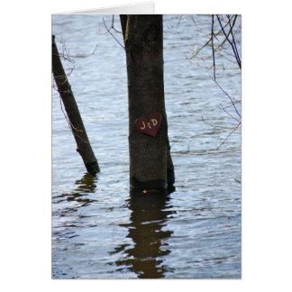 Cartão Amor inundado