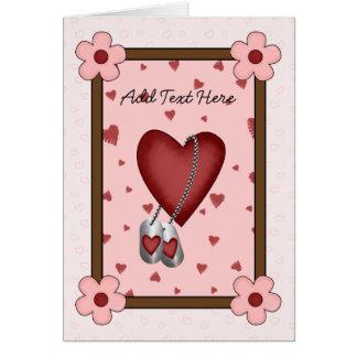 Cartão Amor militar