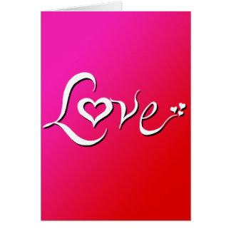 Cartão Amor - mistura cor-de-rosa reversa