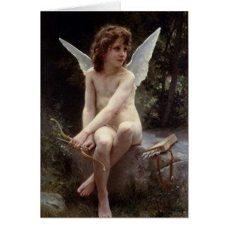 Cartão Amor na vigia por William Bouguereau