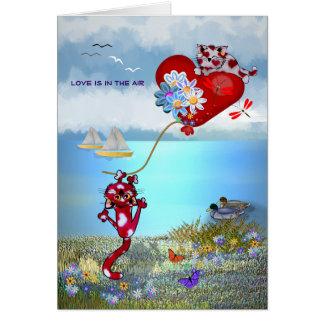Cartão Amor no ar